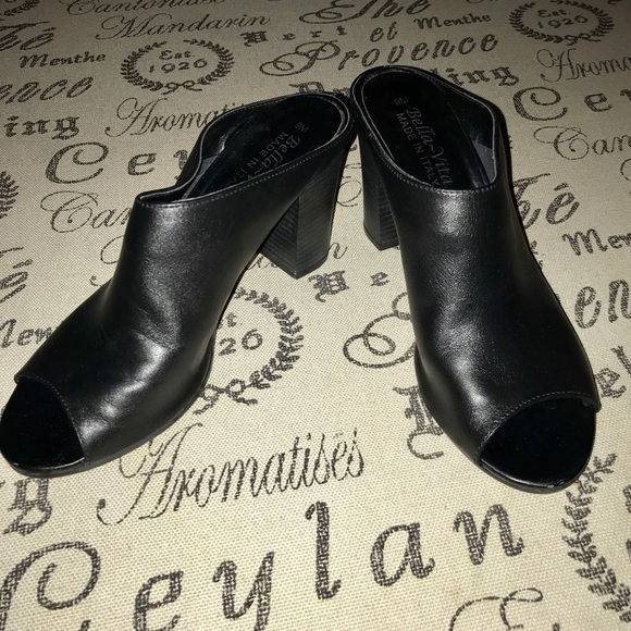 Bella Vita Shoes - Bella~ Vita black open toe made in Italy heels